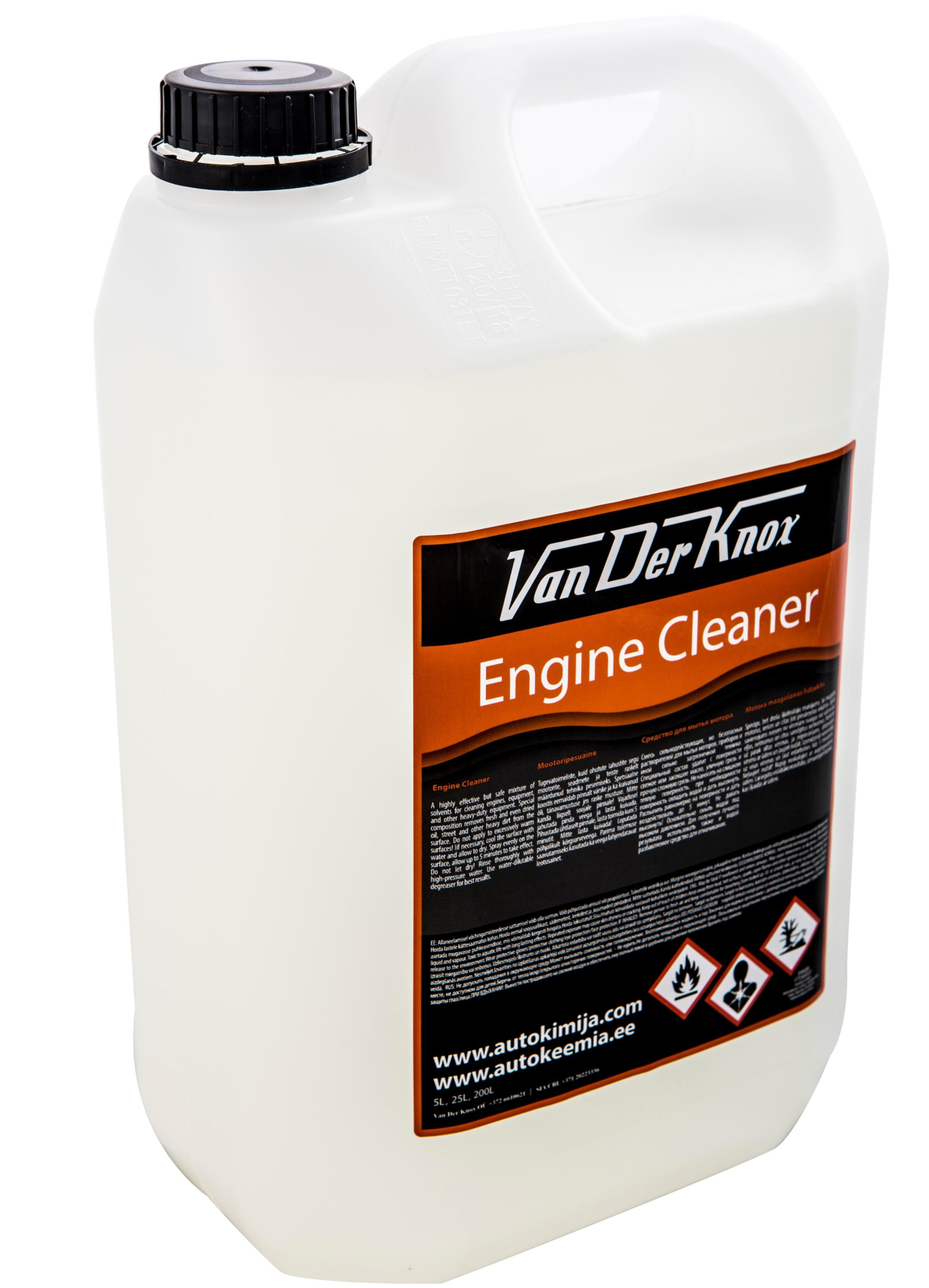 ENGINE CLEANER - Van Der Knox - tugevatoimeline mootoripesuaine - mootori puhastaja - mootoripesuvedelik