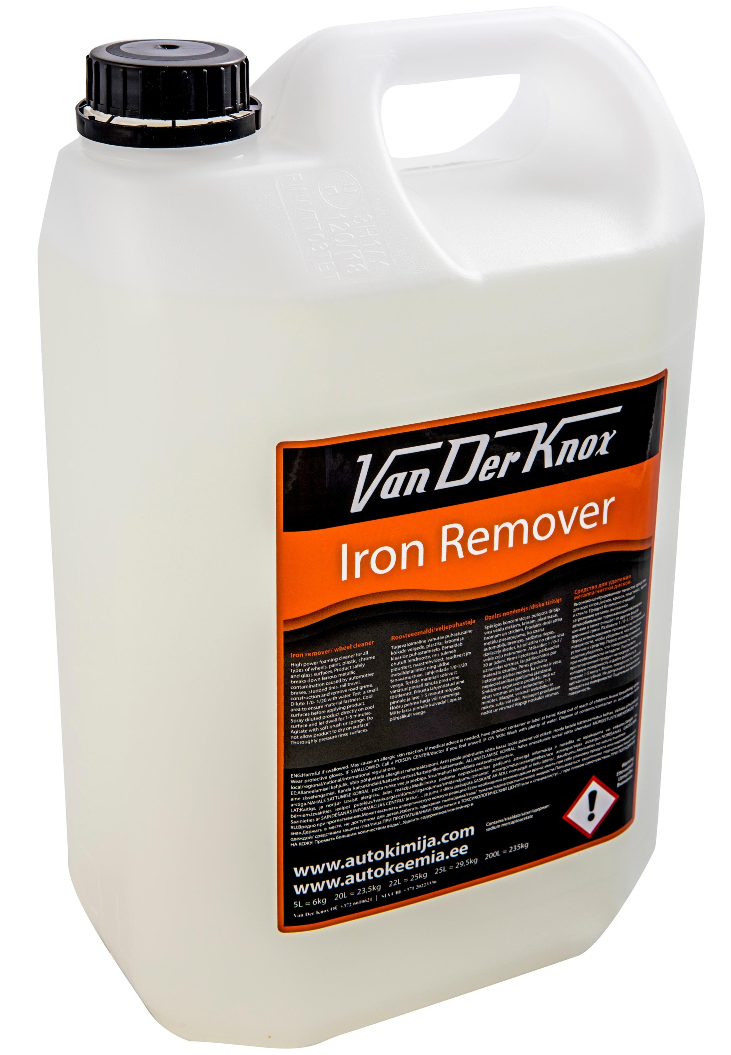 IRON REMOVER - Van Der Knox - roosteladestuste eemaldi - lendrooste eemaldi - neutraalne veljepuhastaja