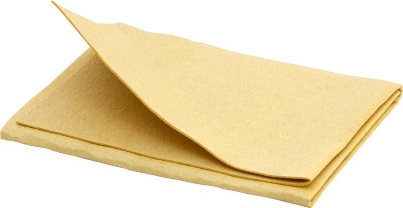 KUIVATUSLAPP - sünteetiline kollane kuivatusnahk