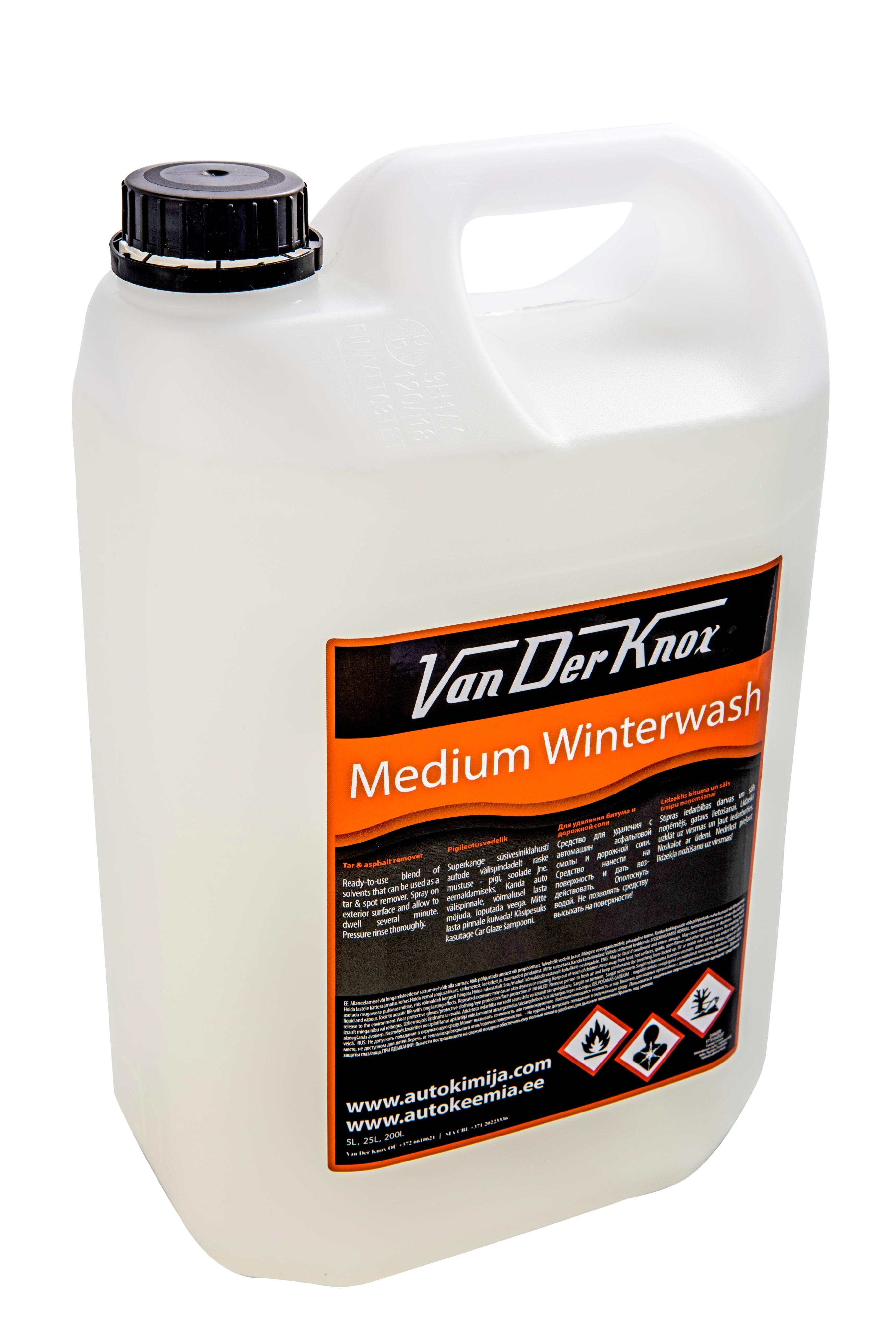 MEDIUM WINTERWASH - Van Der Knox - tugevatoimeline pigileotusvahend - pigieemaldi - pigieemaldaja - antibituumen