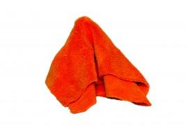 Микрофибра Ultrafine, чистящая бесшовная салфетка оранжевая - салфетка из микроволокна 40x40 см 420 г/м²
